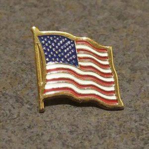 flag lapel tack